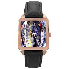 Egg In The Duck   Needle In The Egg 7 Rose Gold Leather Watch