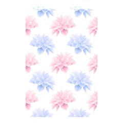Blue And Pink Flowers Vector Clipart Shower Curtain 48  X 72  (small)