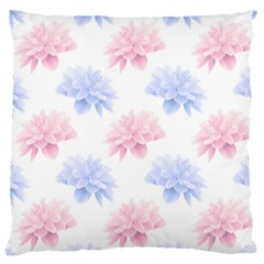 Blue And Pink Flowers Vector Clipart Large Cushion Case (one Side)