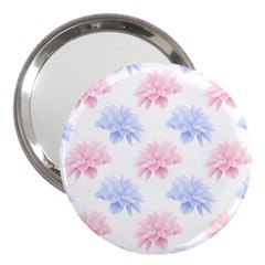 Blue And Pink Flowers Vector Clipart 3  Handbag Mirrors