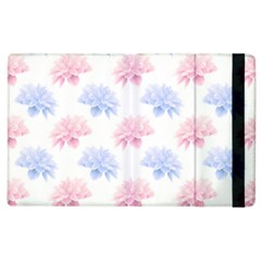 Blue And Pink Flowers Vector Clipart Apple Ipad 3/4 Flip Case