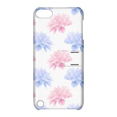 Blue And Pink Flowers Vector Clipart Apple Ipod Touch 5 Hardshell Case With Stand