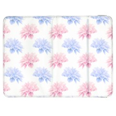 Blue And Pink Flowers Vector Clipart Samsung Galaxy Tab 7  P1000 Flip Case