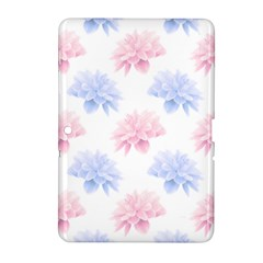 Blue And Pink Flowers Vector Clipart Samsung Galaxy Tab 2 (10 1 ) P5100 Hardshell Case