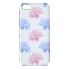 Blue And Pink Flowers Vector Clipart Iphone 5s/ Se Premium Hardshell Case