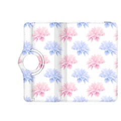 Blue And Pink Flowers Vector Clipart Kindle Fire Hdx 8 9  Flip 360 Case by goodart