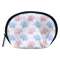 Blue And Pink Flowers Vector Clipart Accessory Pouches (medium)