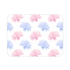 Blue And Pink Flowers Vector Clipart Double Sided Flano Blanket (mini)