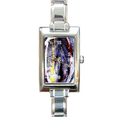 Egg In The Duck   Needle In The Egg 7 Rectangle Italian Charm Watch