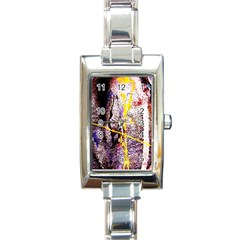 Egg In The Duck   Needle In The Egg 1 Rectangle Italian Charm Watch