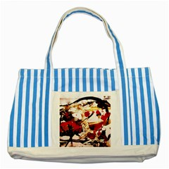In Ireland 3 Striped Blue Tote Bag