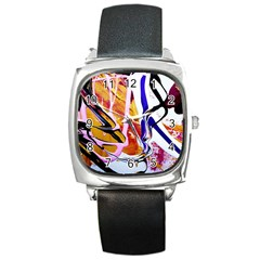 Immediate Attraction 6 Square Metal Watch