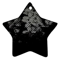 Black And White Dark Flowers Ornament (star)