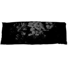 Black And White Dark Flowers Body Pillow Case Dakimakura (two Sides)