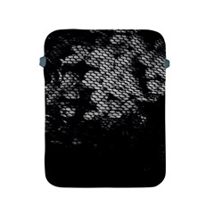 Black And White Dark Flowers Apple Ipad 2/3/4 Protective Soft Cases