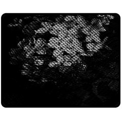 Black And White Dark Flowers Double Sided Fleece Blanket (medium)