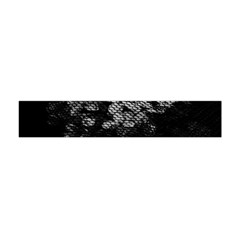 Black And White Dark Flowers Flano Scarf (mini)