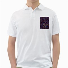 Abtract Colorful Spheres Golf Shirts