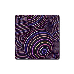 Abtract Colorful Spheres Square Magnet