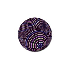 Abtract Colorful Spheres Golf Ball Marker
