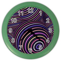 Abtract Colorful Spheres Color Wall Clocks