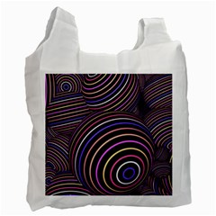 Abtract Colorful Spheres Recycle Bag (two Side)  by Modern2018