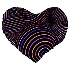 Abtract Colorful Spheres Large 19  Premium Heart Shape Cushions by Modern2018