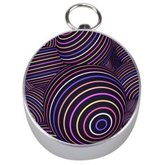 Abtract Colorful Spheres Silver Compasses