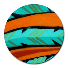 Abstract Art Artistic Round Mousepads by Modern2018