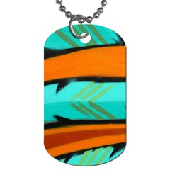 Abstract Art Artistic Dog Tag (one Side)