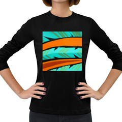 Abstract Art Artistic Women s Long Sleeve Dark T Shirts by Modern2018