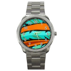 Abstract Art Artistic Sport Metal Watch