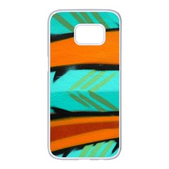 Abstract Art Artistic Samsung Galaxy S7 Edge White Seamless Case