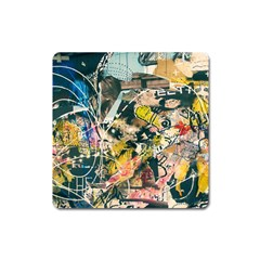 Abstract Art Berlin Square Magnet