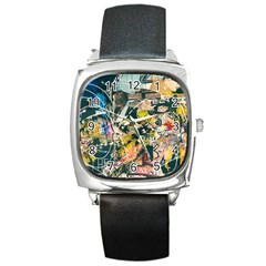 Abstract Art Berlin Square Metal Watch