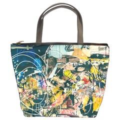 Abstract Art Berlin Bucket Bags
