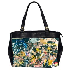 Abstract Art Berlin Office Handbags (2 Sides)