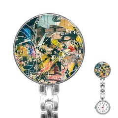 Abstract Art Berlin Stainless Steel Nurses Watch