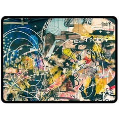 Abstract Art Berlin Double Sided Fleece Blanket (large)