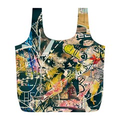 Abstract Art Berlin Full Print Recycle Bags (l)