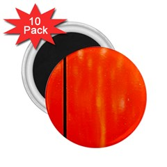 Abstract Orange 2 25  Magnets (10 Pack)