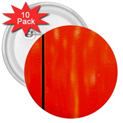 Abstract Orange 3  Buttons (10 Pack)