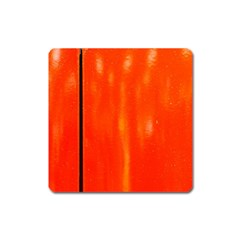 Abstract Orange Square Magnet