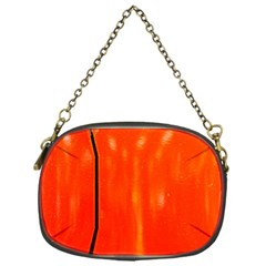 Abstract Orange Chain Purses (one Side)