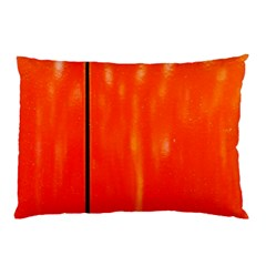 Abstract Orange Pillow Case