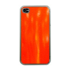 Abstract Orange Apple Iphone 4 Case (clear)