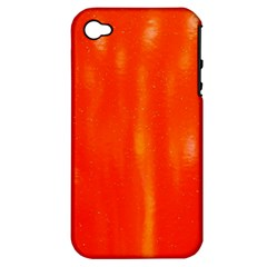 Abstract Orange Apple Iphone 4/4s Hardshell Case (pc+silicone)