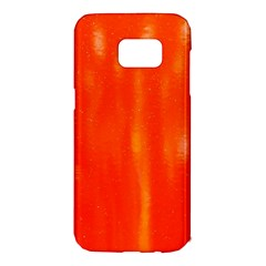 Abstract Orange Samsung Galaxy S7 Edge Hardshell Case