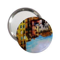 Architecture Art Blue 2 25  Handbag Mirrors