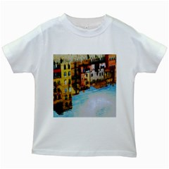 Architecture Art Blue Kids White T Shirts